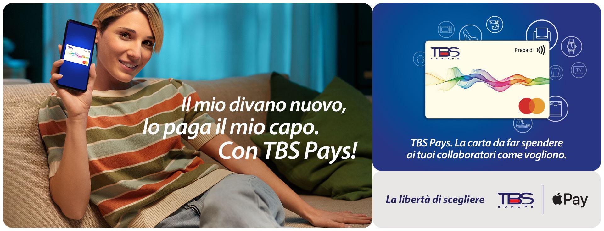 TBS Pays: paga in modo semplice e sicuro con Apple Pay